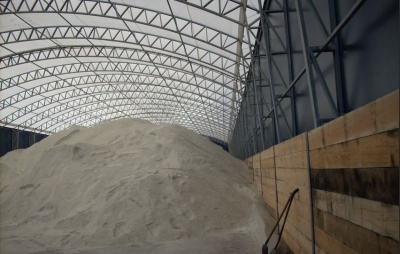 Storage of road salt